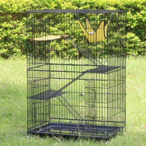 Buy Best NEW Large Folding Collapsible Pet Cat Wire Cage Indoor Outdoor Playpen Vacation