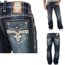 NEW- ROCK REVIVAL MEN'S JOSEF J200 MENS STRAIGHT JEANS - 29,30,31,32,34,36,38,40