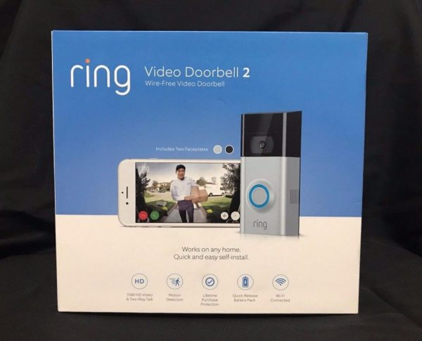 *NEW SEALED* Ring Doorbell 2 1080 HD - Wi-Fi Smart Video Doorbell - Satin Nickel