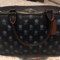 NWT COACH Badlands Floral Mini Bennett Satchel/Crossbody - SV/Midnight - F38160