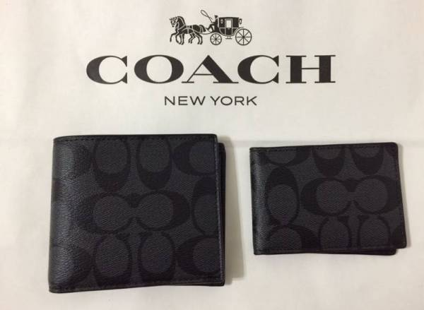 Buy Best NWT F74993 COACH MEN'S COMPACT ID SIGNATURE COATED CANVAS AND LEATHER WALLET