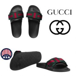 Buy Best NWT Gucci Women's Satin Slide With Web Bow sandal GG Supreme Canvas Size US6-11