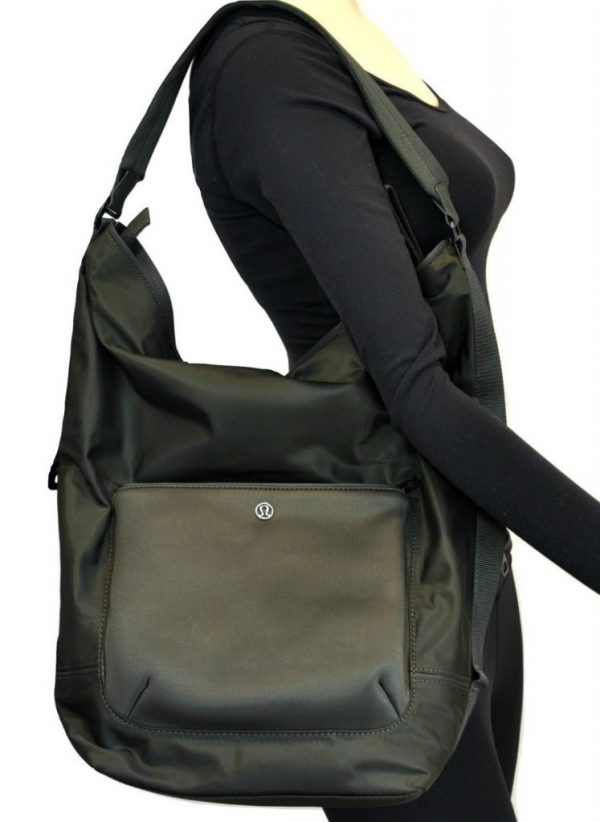Buy Best NWT Lululemon Womens All Set Hobo Dark Olive Fatigue Army Green Large Bag NEW