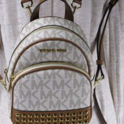 Buy Best NWT MICHAEL KORS PVC ABBEY XS STUDDED BACKPACK BAG VANILLA/ACORN