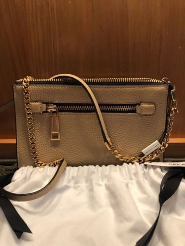 NWT Marc Jacobs Gotham Sand Leather Small Crossbody Bag -Retails $295!