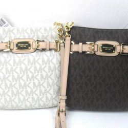 Buy Best NWT Michael Kors Hamilton MK Messenger Crossbody PVC Shoulder Bag Various Colors