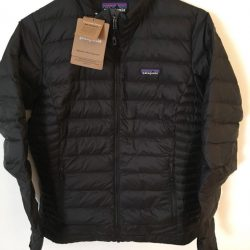 NWT Patagonia Womens Black Down Sweater Coat Jacket
