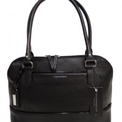 NWT Tignanello Bowery Dome Satchel, Black Leather, T61310A, MSRP: $159.00