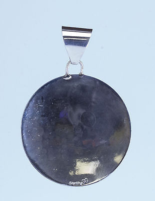 Buy Best Native American Sterling Silver Navajo Round Story Telling Pendant Peublo Indian