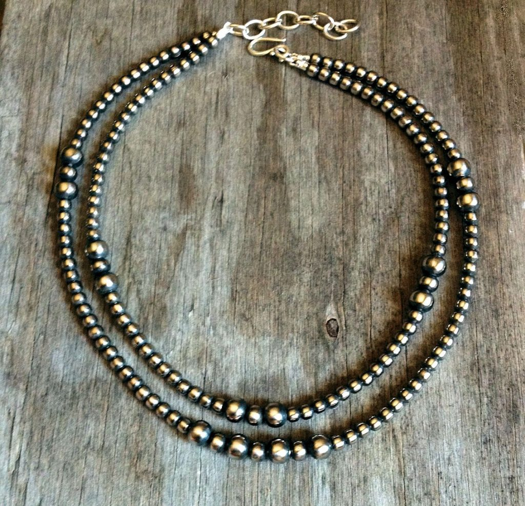 Navajo Pearls Double Strand Native American Necklace #142