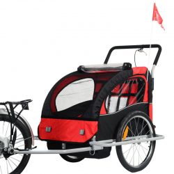 Buy Best New 2 in 1 Bicycle Carrier Double Infant Child Baby Bike Trailer Jogger Stroller