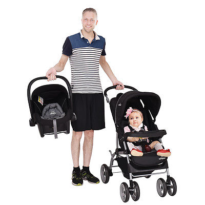 Buy Best New 3 in 1 Foldable Steel Travel System Baby Stroller PRAM Child Car Safety Seat