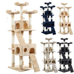 """Buy Best New 66"""" Cat Tree Tower Condo Furniture Scratching Post Pet Kitty Play House"""