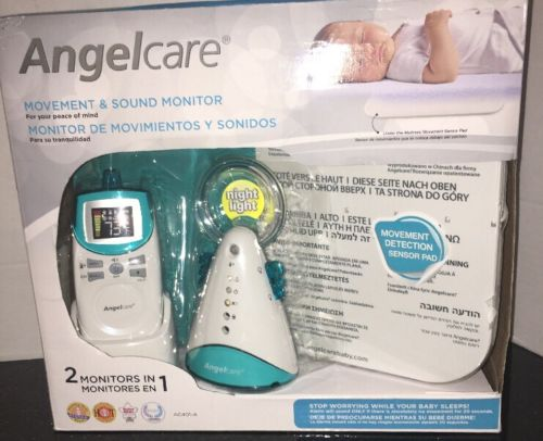 New Angelcare  Movement And Sound Monitor Aqua White AC401-A