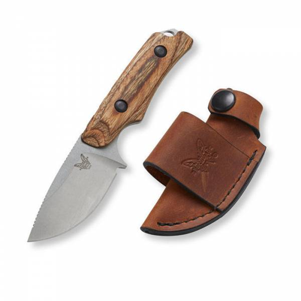 New Benchmade Hidden Canyon Hunter Fixed Blade Knife + Leather Sheath 15016-2
