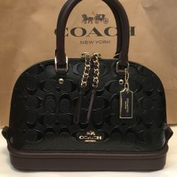 New COACH F55450 MINI SIERRA SATCHEL IN SIGNATURE DEBOSSED PATENT LEATHER