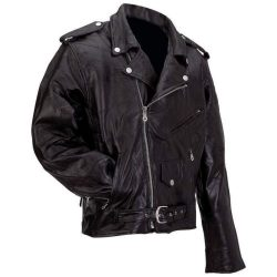 Buy Best New Mens Black Genuine Buffalo Leather MOTORCYCLE JACKET Coat Biker ZipOut Liner
