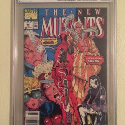 New Mutants 98 (CGC 8.5) White pages; 1st Deadpool