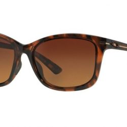 New Oakley Women's Polarized Drop In OO9232-03 Brown Butterfly Sunglasses