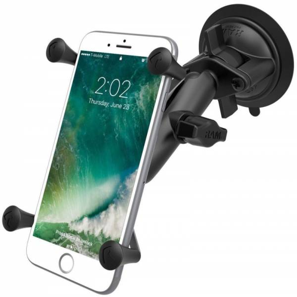 New Ram Twist-Lock Suction Cup Mount with Universal X-Grip Large Phone Cradle