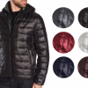 New Tommy Hilfiger Men's Premium Insulated Packable Hooded Puffer Nylon Jacket