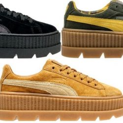 New Women's PUMA Cleated Creeper Suede Fenty Rihanna Sneaker - 366268 MSRP $160
