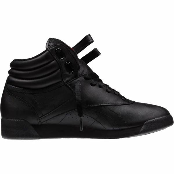 New Women's REEBOK Classics Freestyle Hi Sneaker - 71 - Black