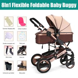 Newborn Baby Stroller Buggy Foldable Pram Pushchair Carriage Infant Travel Car