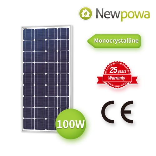 Newpowa 100W Watts 12V Monocrystalline Solar Panel Off Grid Kit for RV Boat mono