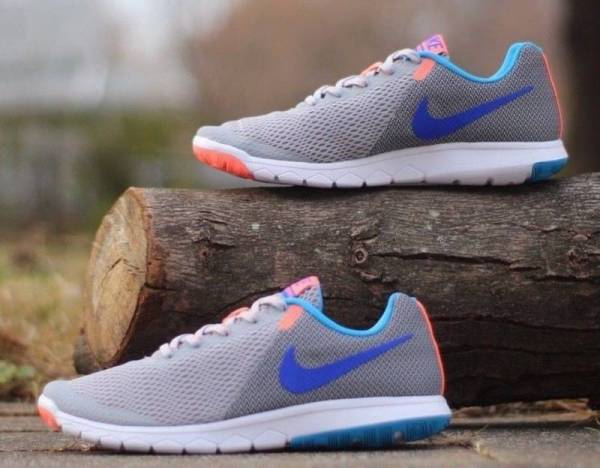 Nike Flex Experience RN 5 Grey Blue Coral 844729-003 Women's Running Shoes NEW!