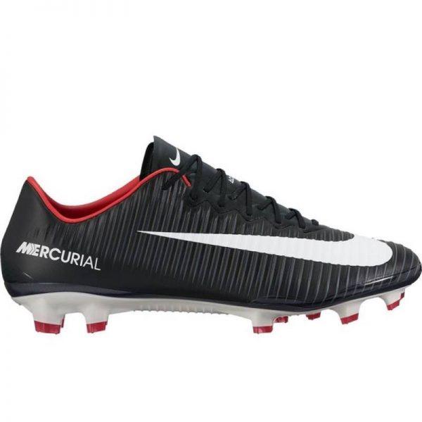 Nike Mercurial Vapor XI FG Soccer Cleat Pitch Dark Black (831958-002)