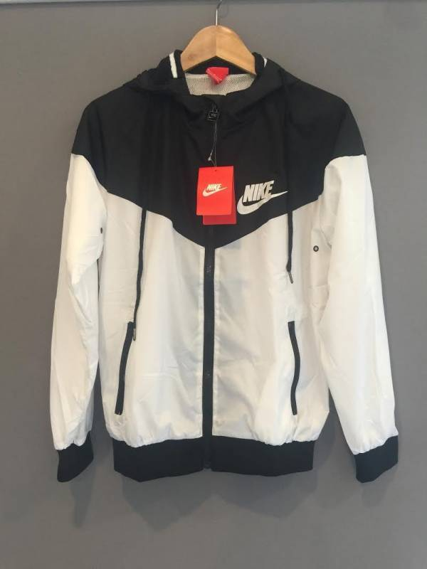 Buy Best Nike Women Windrunner Windbreaker Black & White Sport Hooded Sweater Jacket NWT
