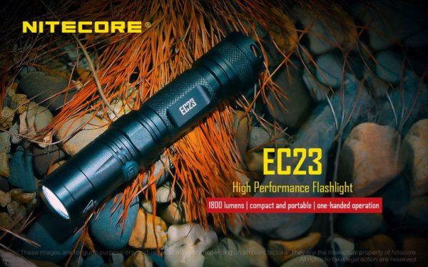 Buy Best Nitecore EC23 CREE XHP35 HD E2 LED Flashlight -1800 Lumens, Using one IMR 18650