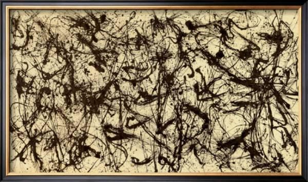 Buy Best No. 32, c.1950 Framed Art Print By Jackson Pollock - 24x14.5