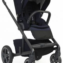 Nuna Baby Mixx2 Forward Rear Facing Single Stroller Indigo w Rain Cover Mixx 2