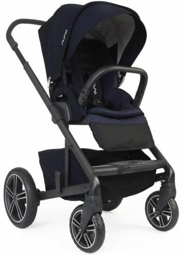 Nuna Baby Mixx2 Forward Rear Facing Single Stroller Indigo w Rain Cover Mixx 2