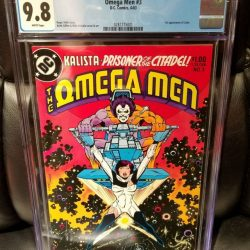 OMEGA MEN #3 CGC 9.8 WHITE PAGES 1ST APP OF LOBO HOT