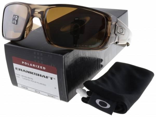 Buy Best Oakley Crankshaft Sunglasses OO9239-07 Brown Smoke   Tungsten Iridium Polarized