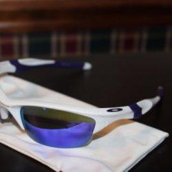 Buy Best Oakley Half Jacket 2.0 OO9144-08 Pearl White/Violet Iridium Sports Sunglasses