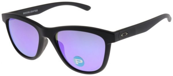Buy Best Oakley Women's Moonlighter Sunglasses OO9320-09 Black with Violet Polarized Lens