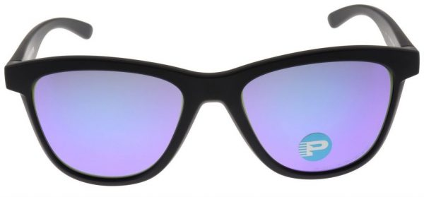 Oakley Women's Moonlighter Sunglasses OO9320-09 Black with Violet Polarized Lens