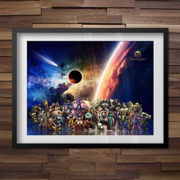 Buy Best Overwatch Poster All Heroes with Orisa, Doomfist Overwatch Blizzard Game Poster