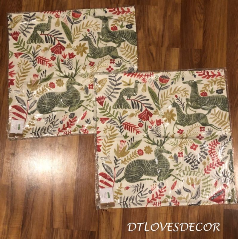 Buy Cheap Pottery Barn Set Of 2 Llew Deer Pillow Cover 22