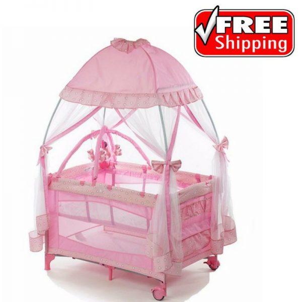 Buy Best Pack And Play Baby Girls Playpen Playard Travel With Infant Bassinet Napper Yard