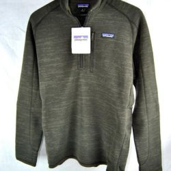 Buy Best Patagonia BETTER SWEATER 1/4 Zip Fleece Jacket AUTHENTIC 25522 Mens WALNUT New