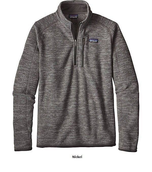 Buy Best Patagonia Mens Better Sweater 1/4 Zip Pullover 25522 - Nickel Size: Large