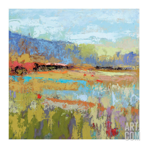 Pause Here For A While Artists Giclee Poster Print by Jane Schmidt, 30x30