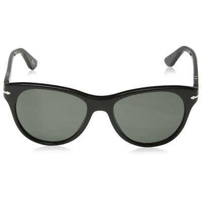 Persol PO3134S 95/58 Black Frame Crystal Polarized Green Lens 54mm Sunglasses