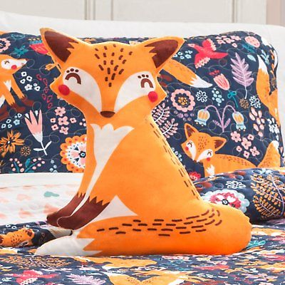 Pixie Fox Quilt Set by Lush Decor, Navy, Full/Queen
