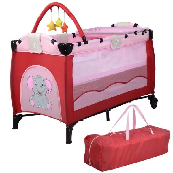 Buy Best Portable Baby Crib Bassinet Playpen Travel Folding Bed Organizer Convertible